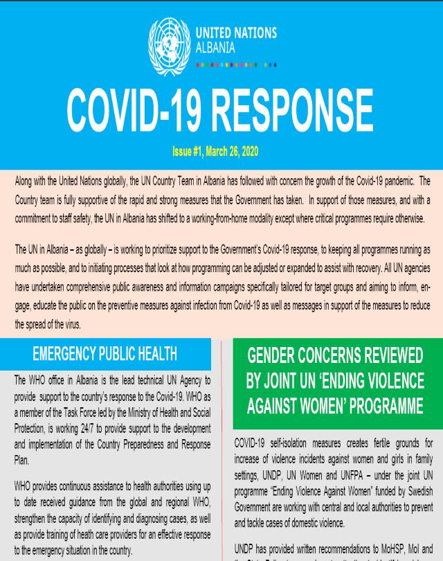 UN Albania Covid-19 Response - Issue# 1