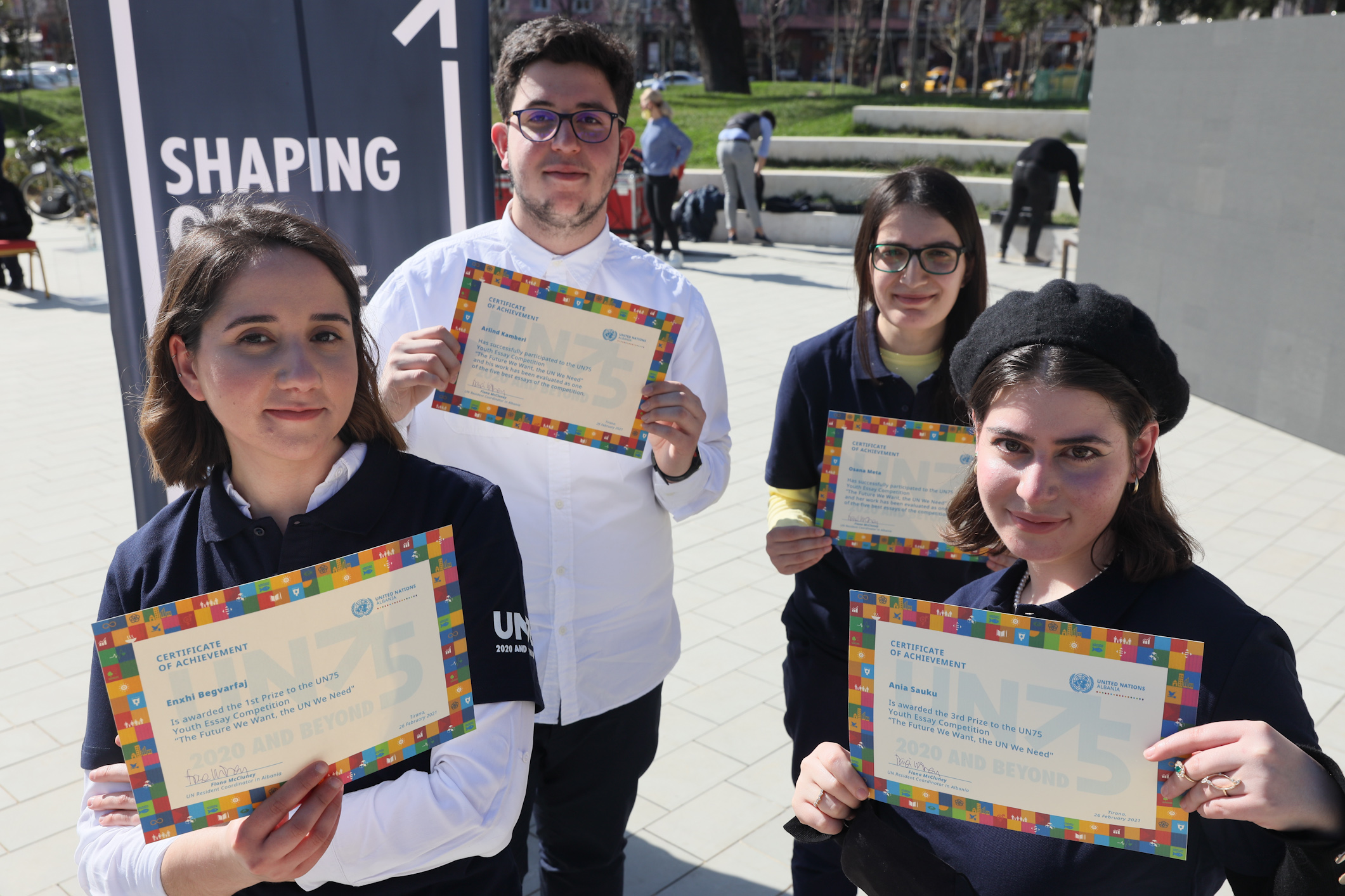 UN75 in Albania: The winners of the UN75 Youth Essay Competition announced