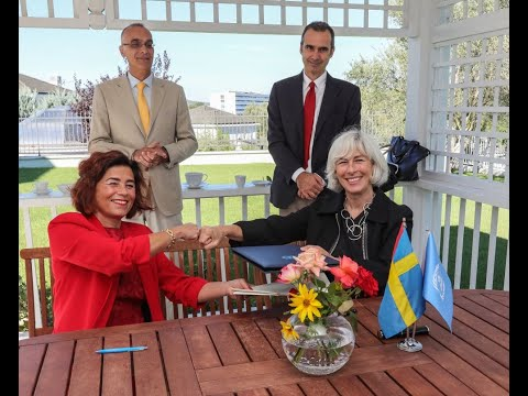 Sweden and UN Albania sign the agreement to support post-earthquake recovery in Albania
